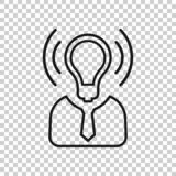 Mind awareness icon in transparent style. Idea human vector illustration on isolated background. Customer brain business concept.  royalty free illustration