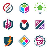 Mind bending attractive application design logo modern solution icon set Royalty Free Stock Image