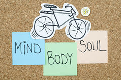 Mind Body Soul. Balance concept Stock Photo