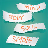 Mind, Body, Soul, Spirit Royalty Free Stock Photo
