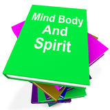 Mind Body And Spirit Book Stack Shows Holistic Stock Photography