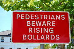 Mind The Bollards Stock Photos