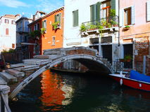 Mind the Bridge in Venice, Italy Stock Images