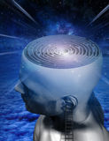 Mind Climb. Maze mind in human head Royalty Free Stock Images