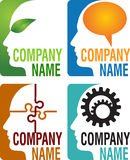 Mind concept logos Royalty Free Stock Photo