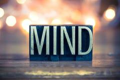 Mind Concept Metal Letterpress Type Stock Photos
