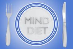 Mind Diet concept Stock Photo