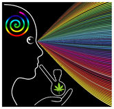 Mind Expanding Cannabis Royalty Free Stock Photography