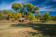 The Mind Expanding World of Sedona. Old house with water wheel Royalty Free Stock Images
