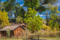 The Mind Expanding World of Sedona. Old house with water wheel Stock Photos