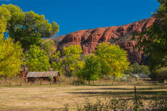 The Mind Expanding World of Sedona. Old house with water wheel Stock Image