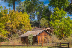 The Mind Expanding World of Sedona. Old house with water wheel Stock Photo
