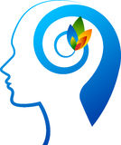Mind flower logo stock illustration