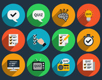 Mind games and quizzes flat icons Royalty Free Stock Photography