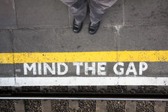 Mind the gap Royalty Free Stock Photos