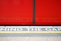 Mind the gap Stock Photos