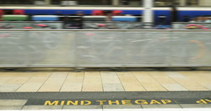 Mind the gap stock video footage