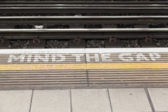 Mind the Gap in London Royalty Free Stock Photography