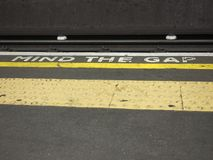 Mind the gap in London Royalty Free Stock Photos