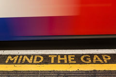 Mind the Gap. London underground Stock Photography