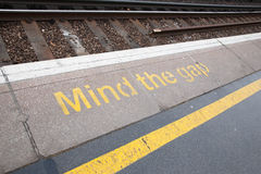 Mind the Gap Sign Royalty Free Stock Photos