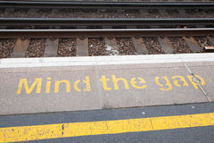 Mind the Gap Sign Royalty Free Stock Images