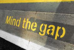 Mind the gap Stock Photo