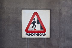 Mind the Gap Sign Royalty Free Stock Photography