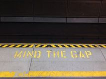 Mind the gap Stock Images