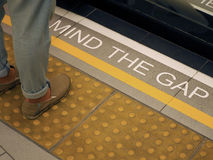 Mind the gap with white color Royalty Free Stock Images