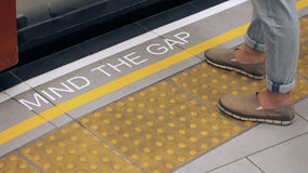 Mind the gap with white color Royalty Free Stock Photography