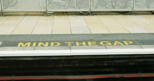 Mind the gap stock video