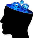 Mind gear. Illustration art of a mind gear with isolated background stock illustration