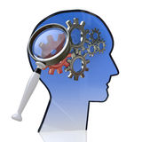 Mind gear. In the design of the information related to the ideas and technologies Stock Photo