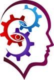 Mind gear logo Stock Photography