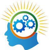 Mind gear power. A vector drawing represents mind gear power design stock illustration