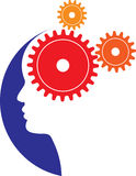 Brain gears. Vector illustration of mind gears royalty free illustration