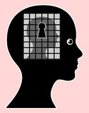 Mind Made Prison or Social Phobia Stock Photos