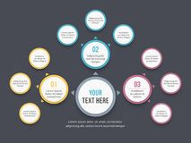 Mind Map Diagram. Absrtact mind map template, business infographics Royalty Free Illustration