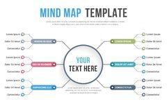 Mind Map Template Stock Images