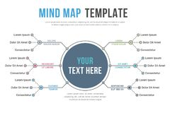 Mind Map Template. Absrtact mind map template, business infographics Vector Illustration