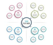 Mind Map Template Royalty Free Stock Photography