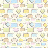 Mind map vector seamless pattern background Royalty Free Stock Photos