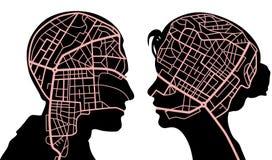 Mind maps Stock Image