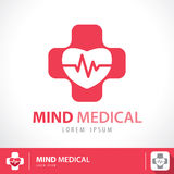 Mind medical symbol icon Royalty Free Stock Photography