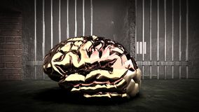 The mind of monster inside prison cell 3d rendering Stock Photo