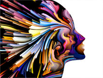 Mind Painting Backdrop Stock Images