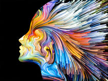 Mind Painting Background Stock Photography