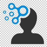 Mind people icon in flat style. Human frustration vector illustration on isolated background. Mind thinking business concept. royalty free illustration
