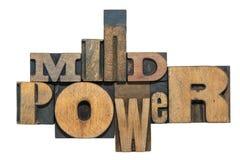 Mind power w Stock Photo